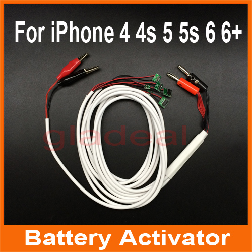 Smart Phone Repair Power Charger Line Wire Cable For iPhone 4 4s 5 5s 6 6 Plus Battery Activator Repairing Tools 3pcs battery and european regulation charger with 1 cable 3 line for mjx b3 helicopter 7 4v 1800mah 25c aircraft parts