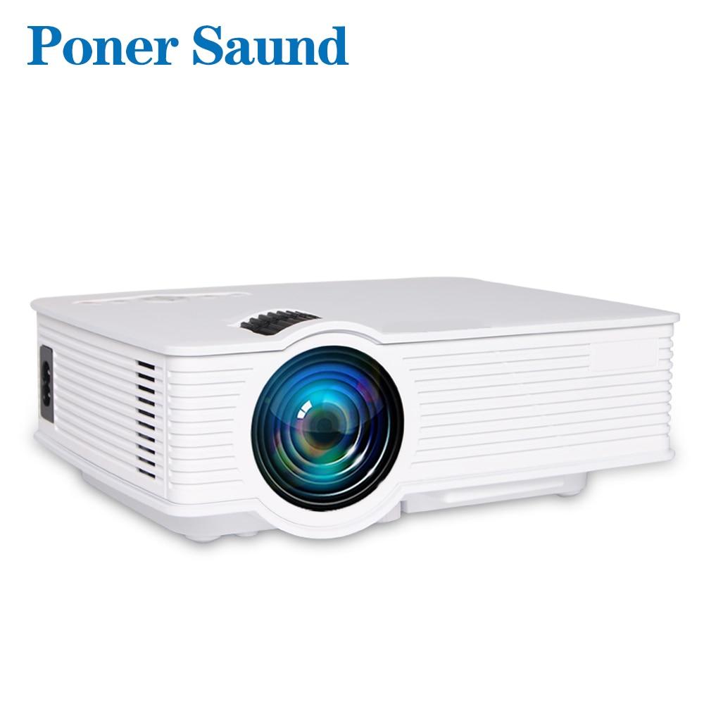 Poner саунд светодиодный GP9 мини-проектор проводной Sync Дисплей дома Театр Android Поддержка Full HD светодиодный проектор видео Proyector