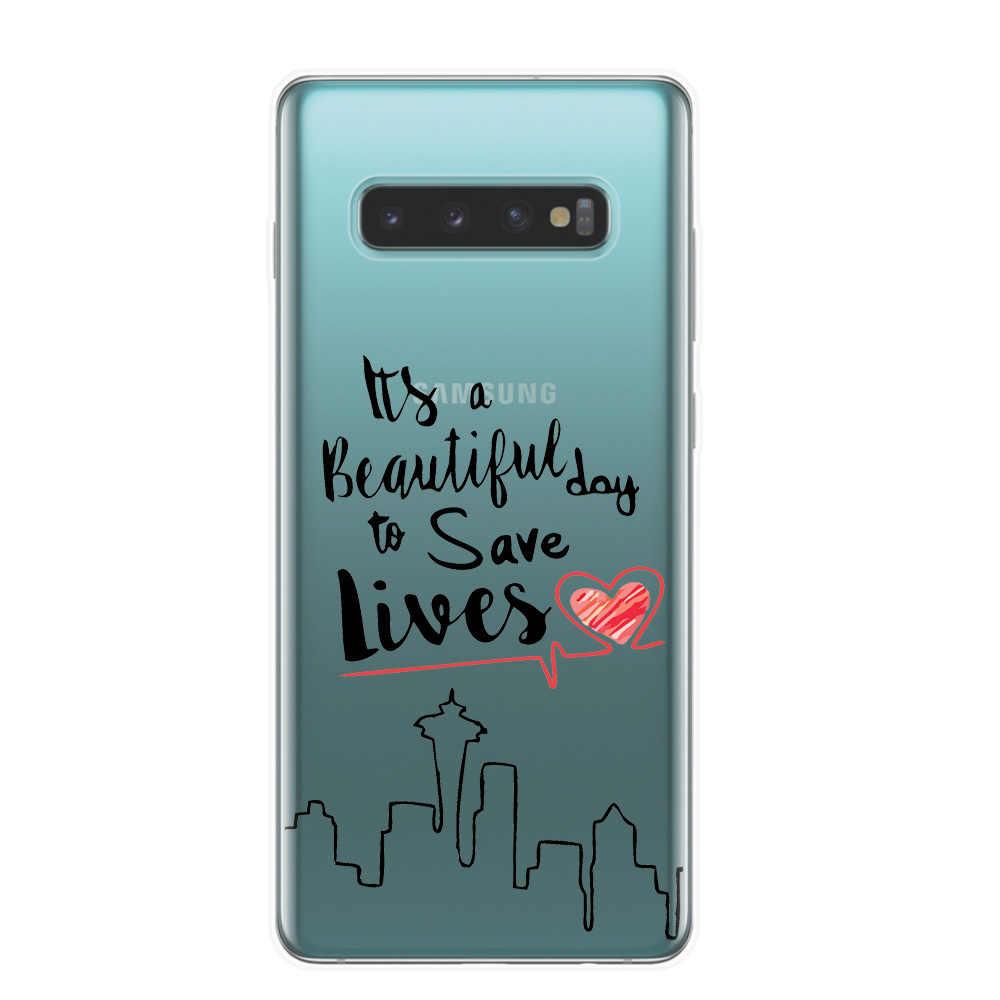 Greys Anatomy Bạn đang Của Tôi Người Trường Hợp Điện Thoại Cho Fundas Samsung S10 Cộng Với Lite S10E M10 M20 TPU Mềm Silicone trường hợp Bìa Gốc