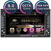Roadlover Android 8.0 Car Multimedia DVD Player Radio For 6.2Inch Universal Stereo GPS Navigation Magnitol 2 Din 178mm * 102mm