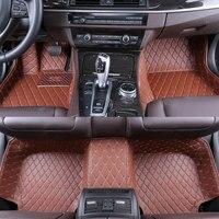 Automotive Interior Accessories Floor Mat PU Leather Non Slip Foot Carpet Custom Fit Car Mat For