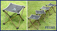 Portable Folding Aluminium Alloy Fishing Chair 500D Oxford Camping Chair Outdoor Picnic BBQ Chairs with Bag