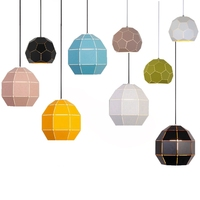 New arrival simple pendant lights colorful metal lamp body LED macarons kids room study foyer decoration droplight free shipping