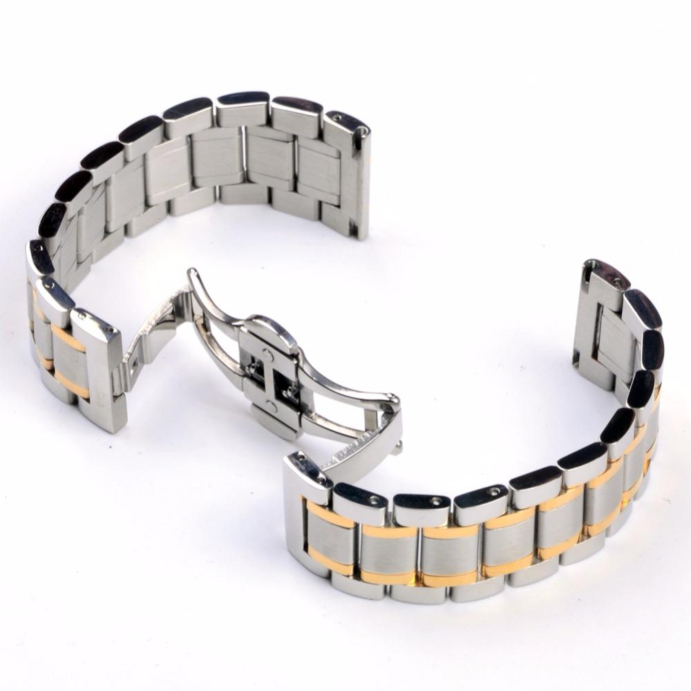 Prix pour Acier inoxydable Montre Bracelet Butterfly Plié Boucle 20mm 22mm