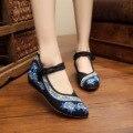 2016 Новый Старый Пекин Ткань Плоские Туфли, Китайский Национальный Стиль Мягкой Подошвой Роза Вышивка Повседневная Обувь, Женщины Танцуют обувь Бежевый Красный