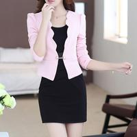 New Autumn Spring OL Women Dresses Suits 2016 Fashion Office Women Workwear Blazer And Dress Suit