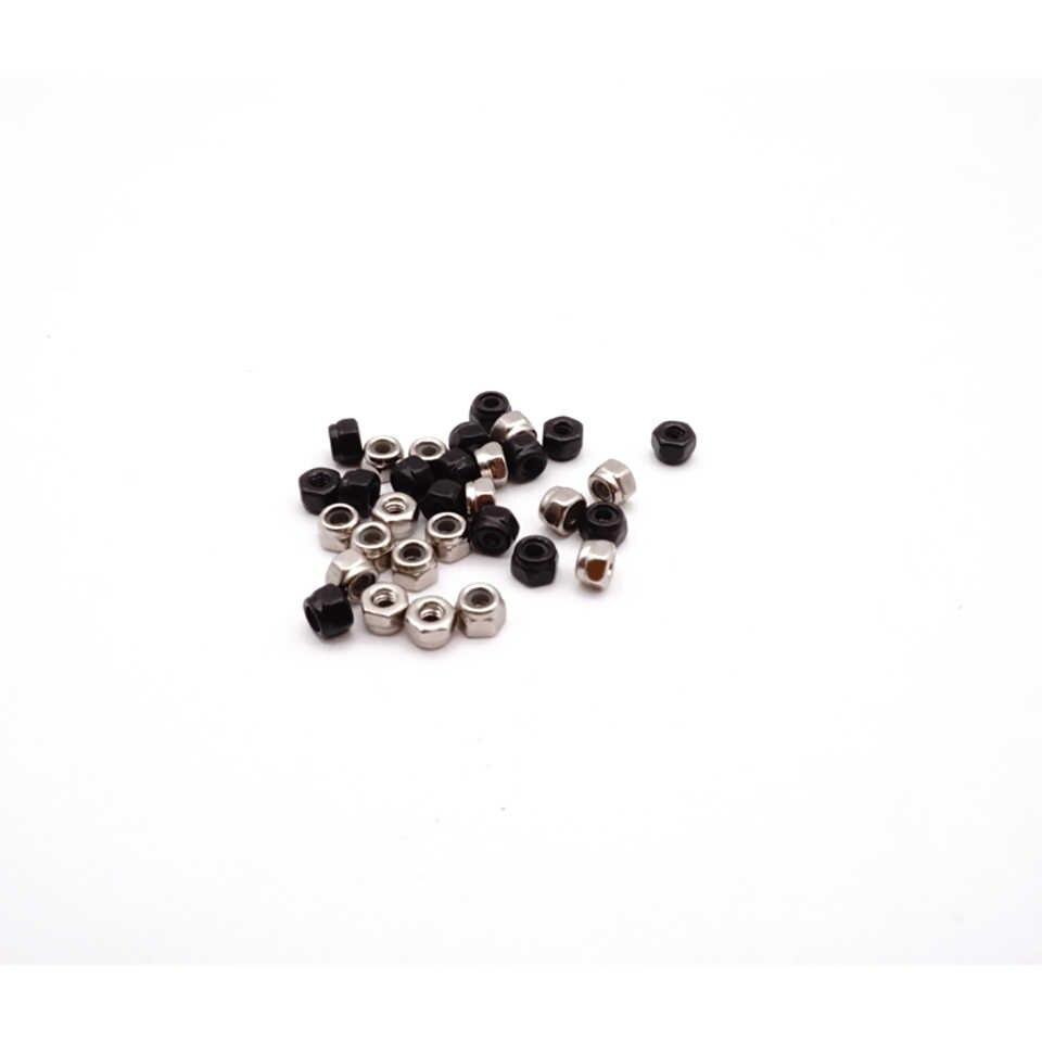 MINI 4WD tự Sơn mô hình chuyên dụng Tamiya Bộ phận khóa các loại hạt đen và bạc bên ngoài đường kính 4mm 10 chiếc giá MJ MÔ HÌNH