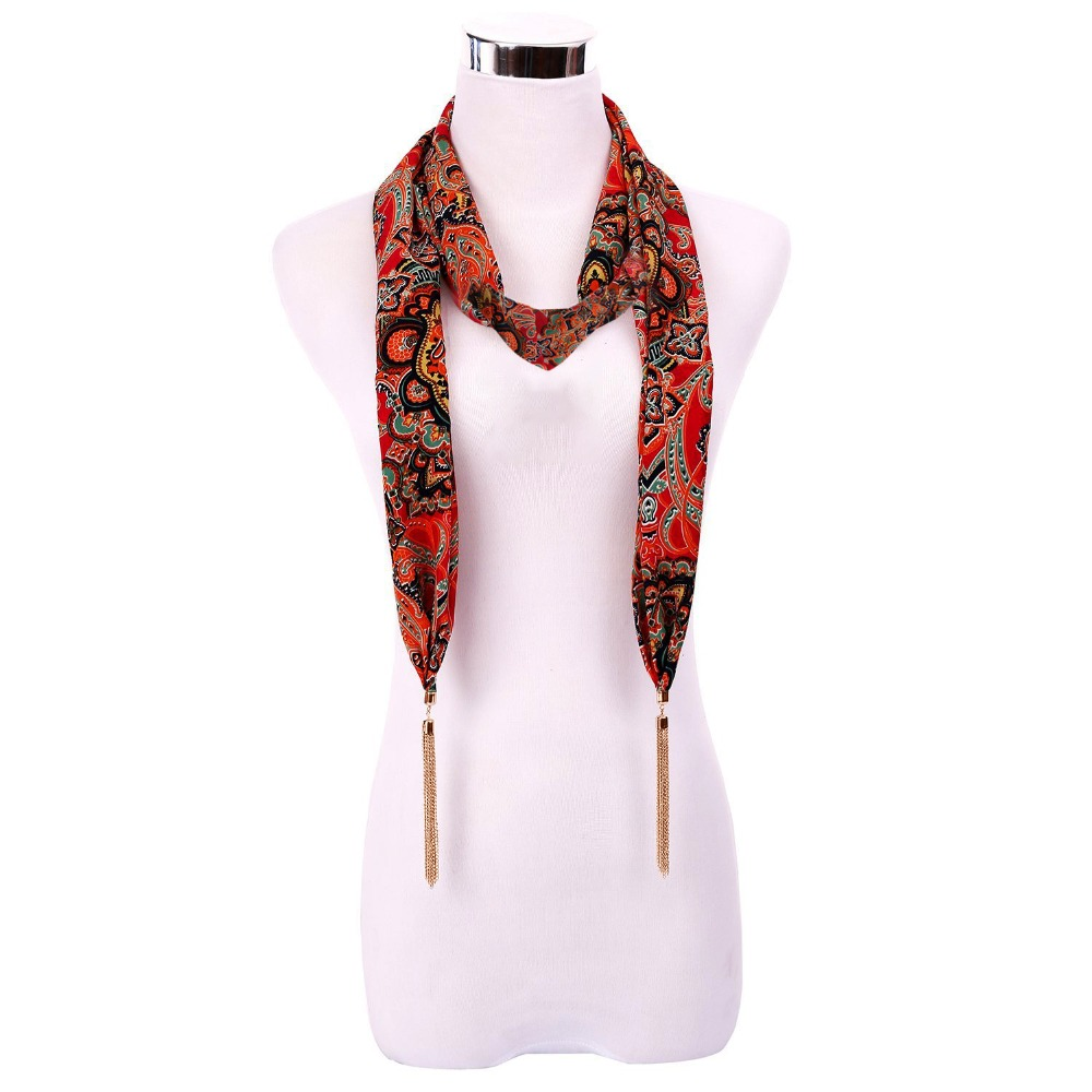 Scarves     Wraps   Women   Scarf   Necklace Nature Necklace Fringe Tassel   Scarf   With Beads Ethnic Jewelry Clothing Apparel Accessories