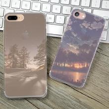 Для iPhone 5S Мягкие TPU Case Cover For Apple iPhone 5 5S SE Случаях Телефон Оболочки Высокое Качество Леса Звездное Небо Красивое декорации