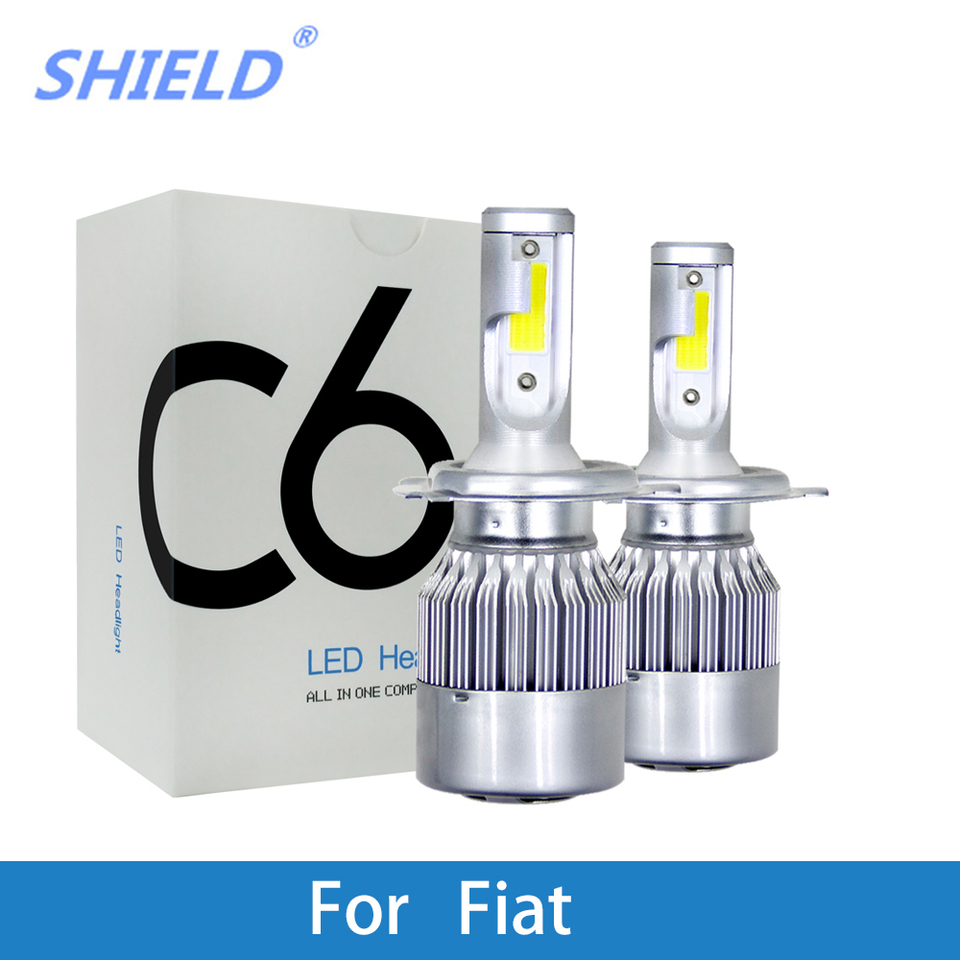 PE1550 H4 Ampoules De Phare X 2 pour Fiat Panda Punto Evo Qubo Scudo Sedici