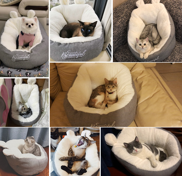 HOOPET Pet Cat Dog Bed Warming Dog House Soft Material Sleeping Bag Pet Cushion Puppy Kennel 8