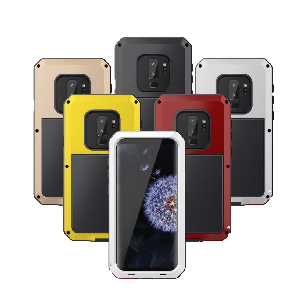 3 Proofings Armor Case For Samsung S9 Plus Metal Aluminum Dirt Shock Waterproof Case For Samsung Galaxy S8 S7 Heavy Rugged Cover