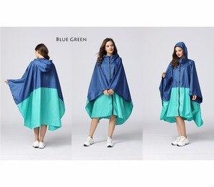 Image 2 - ผู้หญิงกันน้ำ Rain Poncho สีสันพิมพ์เสื้อกันฝนและซิป