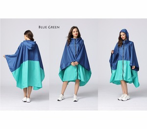 Image 2 - Womens Stylish Waterproof Rain Poncho Coloful Print Raincoat with Hood and Zipper
