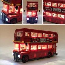 Led に設定レゴテクニック 10258 ロンドンバスビルディングレンガ互換 21045 クリエーター街区のおもちゃギフト (のみ led ライト)
