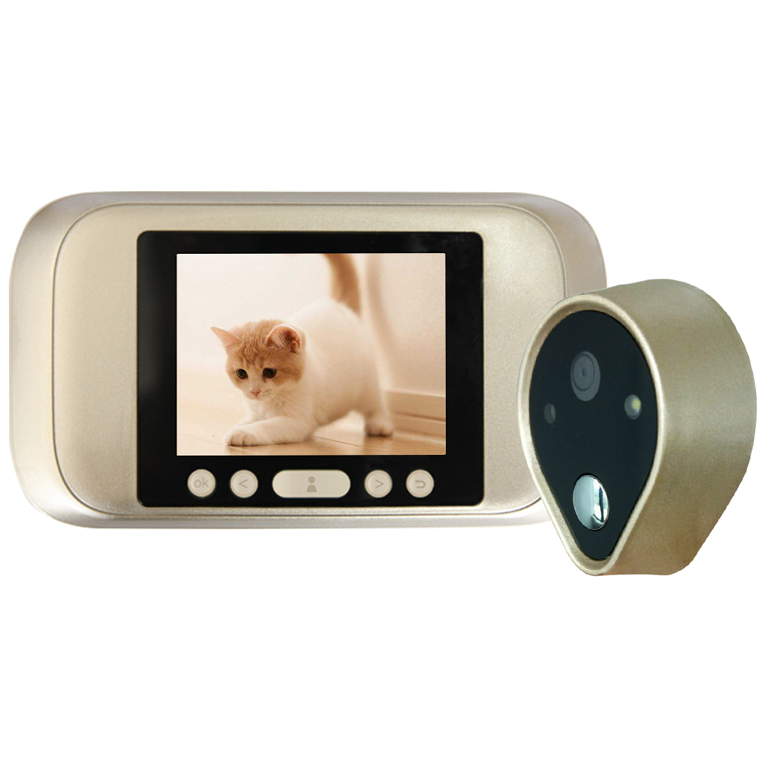 1pcs A32D 3.2 Inch Color Screen With Door Bell LED Lights Electronic Doorbell Door Viewer Home Security Peephole Door Camera x5 home smart doorbell security door peephole camera electronic cat eye and hd pixels tft color screen display audio door bell