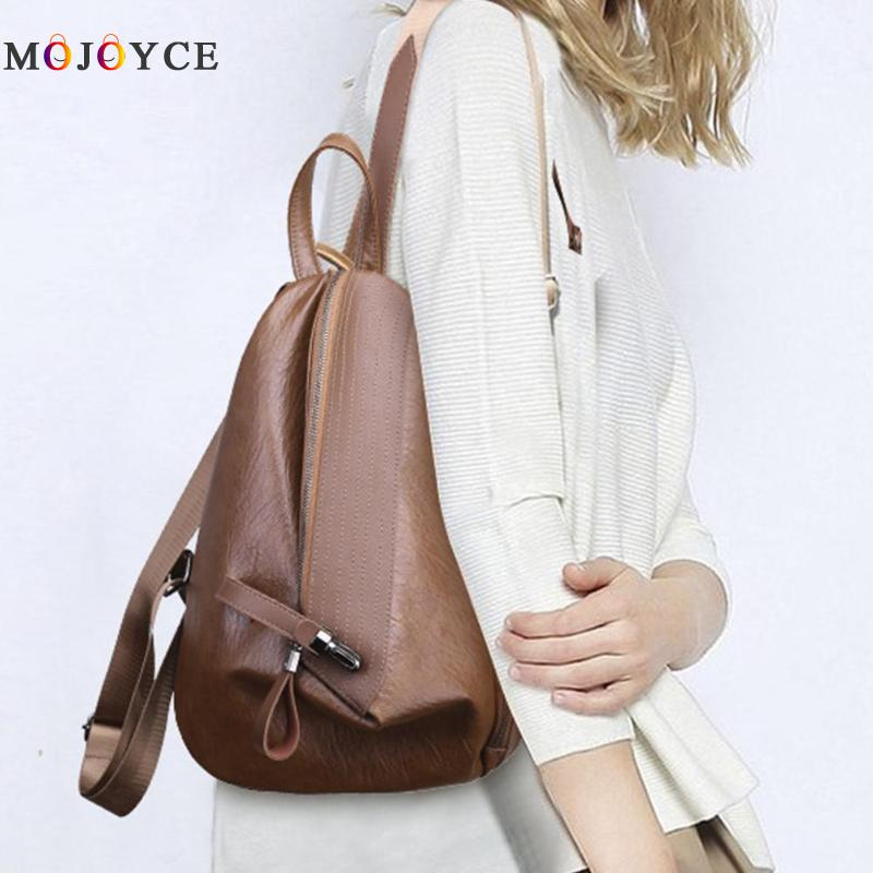 Chic Creative Zipper Open Design Women Backpack Girls Small Size Casual Soft Pu Leather Backpack Female Mochila Feminina #5