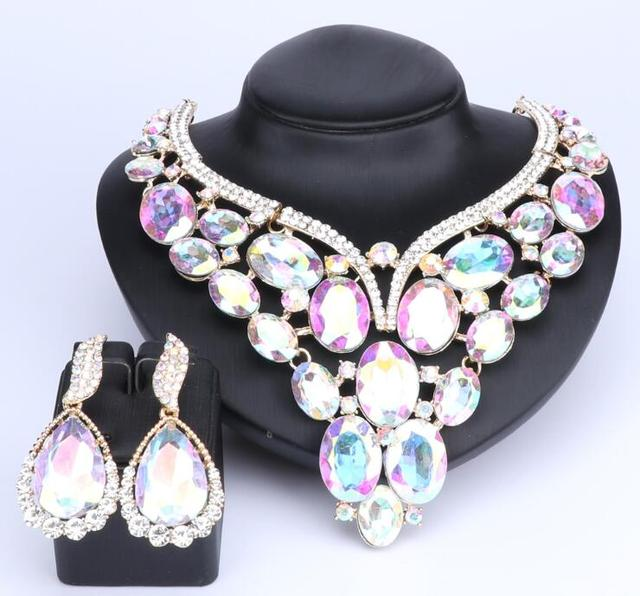 10 Colors Crystal Earrings...