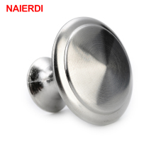 NED Diameter 24/28mm Zinc Satin Nickel Cabinet Pull Cupboard Drawer Handle Knobs Wardrobe Handle With Screw Furniture Hardware ned diameter 24mm 28mm cabinet handle stainless steel circle round handles drawer furniture wardrobe knobs pull handle hardware