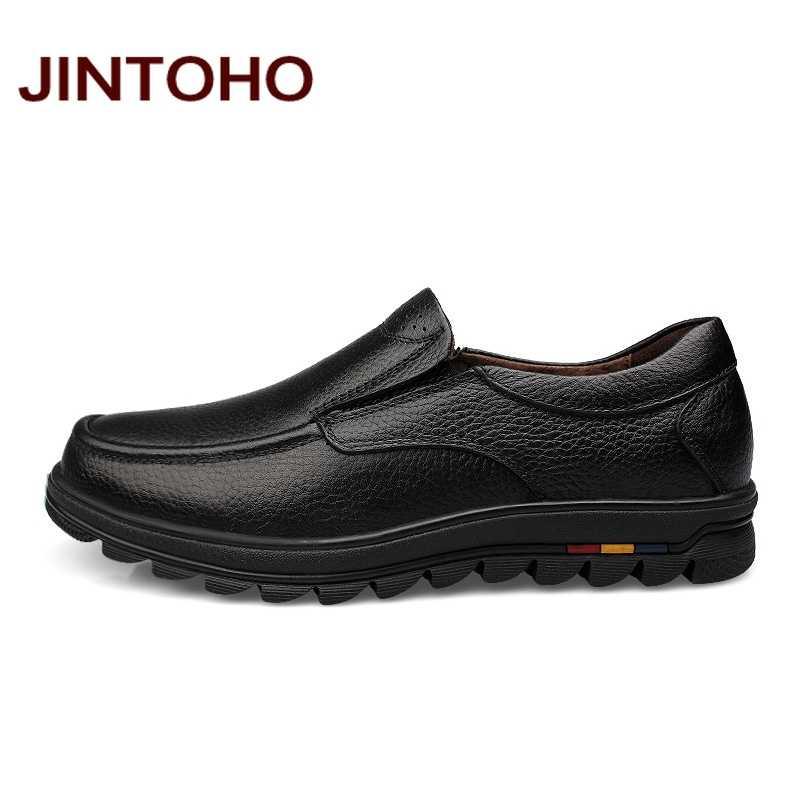 a2b9359fb ... JINTOHO большой размер 38-47 мужская одежда итальянские кожаные туфли  люксовый бренд мужские лоферы натуральная ...