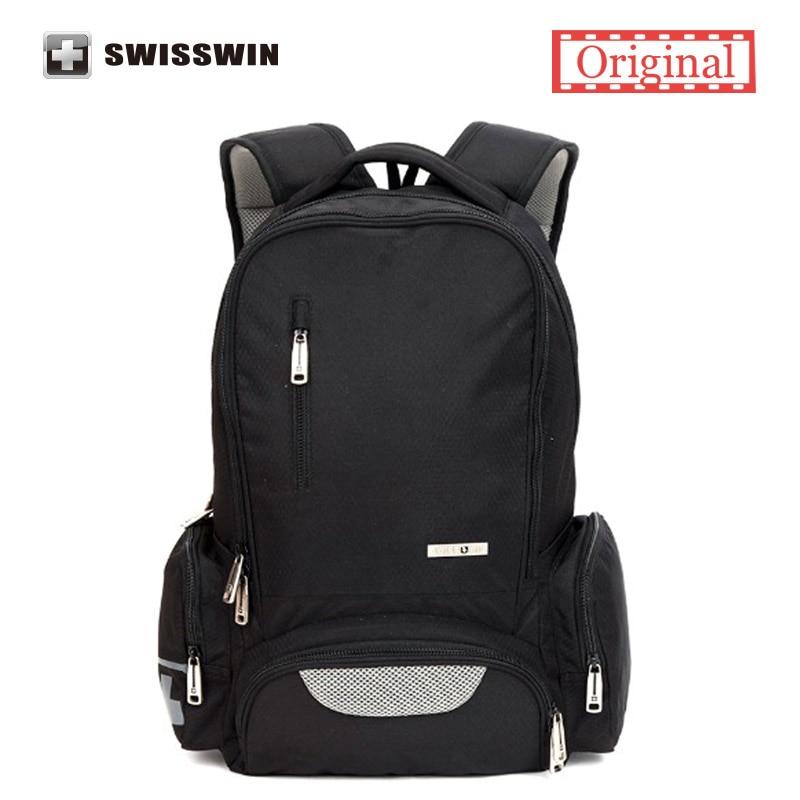 ФОТО Swisswin Brand Youth Backpack Women Casual Backpack Cute Backpack For Teenage Girls Boys Korean Janpane Style School Backpack