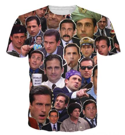Many Faces of Michael Scott Paparazzi T-Shirt Casual Style tshirts Tees Women/Men Summer ...