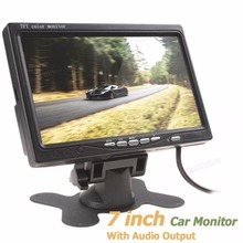Hot 800 x 480 7 Inch Color TFT LCD Screen Car Rear View Monitor with Audio Output(China (Mainland))