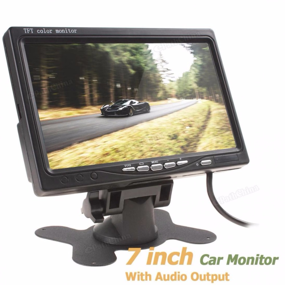 7 Inch Color TFT LCD Screen Car Rear View Monitor 2 Channels Video Input PAL / NTSC For Car Rear View Camera