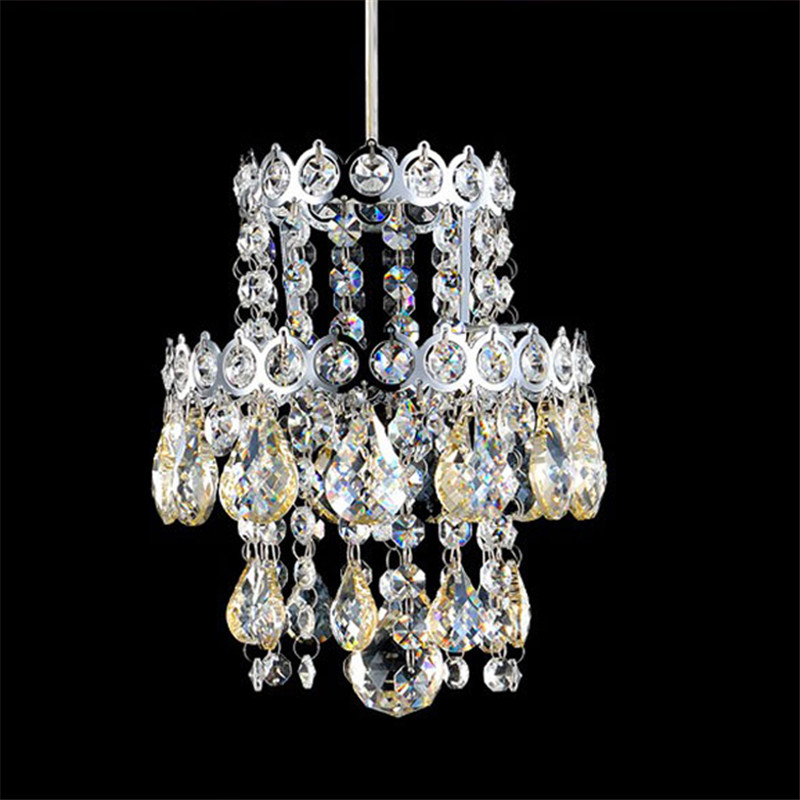 K9 Crystal Lightings Modern Fashion Elegant LED Clear Crystal Pendant Lights Dining Room Bar Hotel Project Lustre Drop Light vallkin modern round led pendant light clear k9 crystal and silver stianless steel d40cm 18w ce fcc rohs