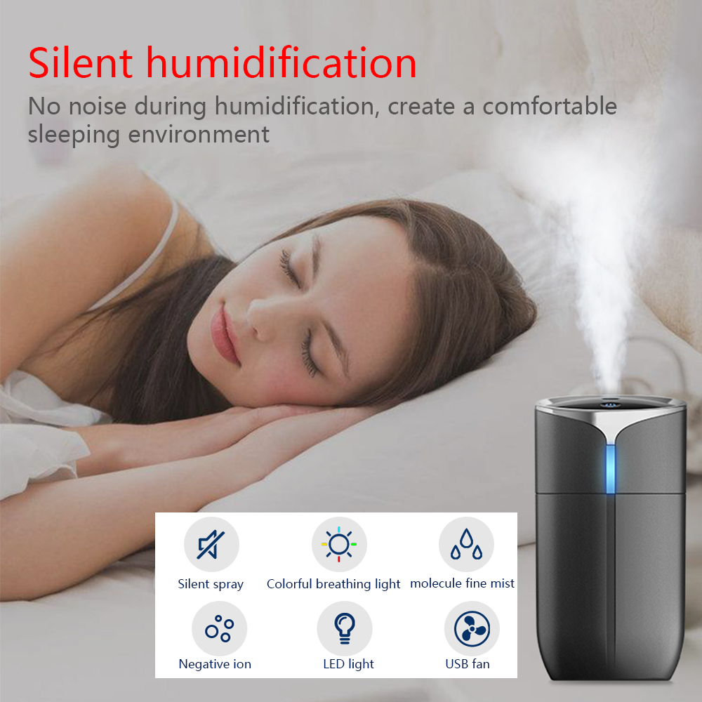 Image 2 - New Creative 230ML Portable Household Car Anion Humidifier Portable USB 4 in 1 Aromatherapy Humidifier Car Air Cleaning Device-in Car Air Humidifier from Automobiles & Motorcycles