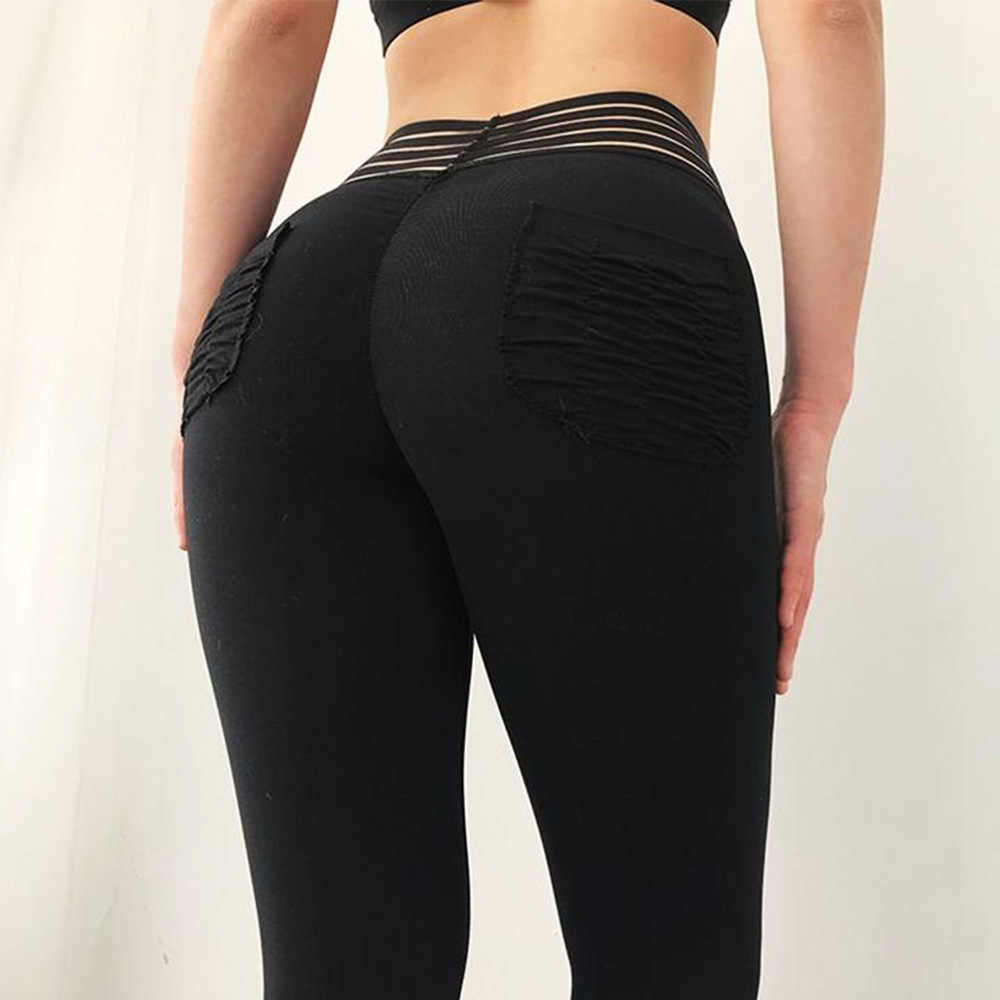 6b7b5820ea295 ... Women Fitness Push Up Leggings High Waist Elastic Workout Legging Pants  2019 Fashion New Female Pocket ...