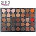 35 Color Shimmer Mate Paleta de Sombra de ojos Tierra Color Cálido Sombra de Ojos Cosméticos de Belleza de Maquillaje Conjunto de maquillaje de ojos # 35B