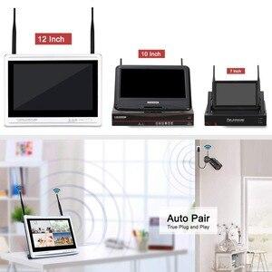 Image 4 - Anrun 1080P 8CH الرئيسية CCTV عدة نظام مراقبة الأمن في الهواء الطلق للرؤية الليلية كاميرا IP واي فاي مع 12 بوصة رصد NVR أطقم