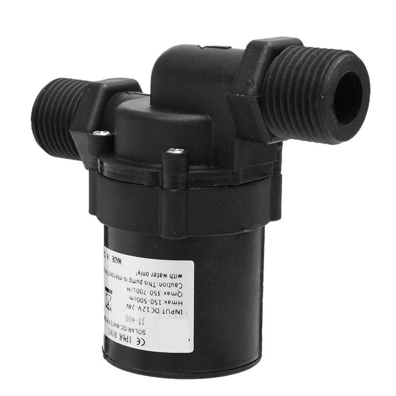 High Efficiency 1PCS Mini Solar DC 12V 24V Hot Water Circulation Brushless Motor Pump Washing 700L/H Waterproof