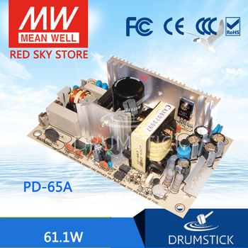 patriotic MEAN WELL PD-65A meanwell PD-65 61.1W Dual Output Switching Power Supply original mean well rd 35b 35w 5v 24v dual output meanwell power supply