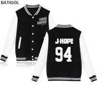 BATIGOL BTS Kpop Baseball Jacket Sweatshirt Men Korean Bangtan Hip Hop Women Hoodies Pullover Winter Fashion