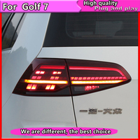 Car Styling for VW Golf 7 Tail Lights 2013 2015 Golf7 MK7 LED Dynamic turn signal Tail Light GTI R20 Rear Lamp