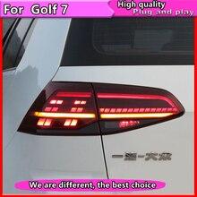 VW 골프 7 테일 라이트 2013 2015 Golf7 MK7 LED 다이나믹 턴 시그널 테일 라이트 GTI R20 리어 램프 용 자동차 스타일링