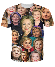 New Hillary Clinton Paparazzi T-Shirt Women Men 3d Print T Shirt Tops Outfits Tees Shirts Summer Style Casual tshirts 5XL R2944