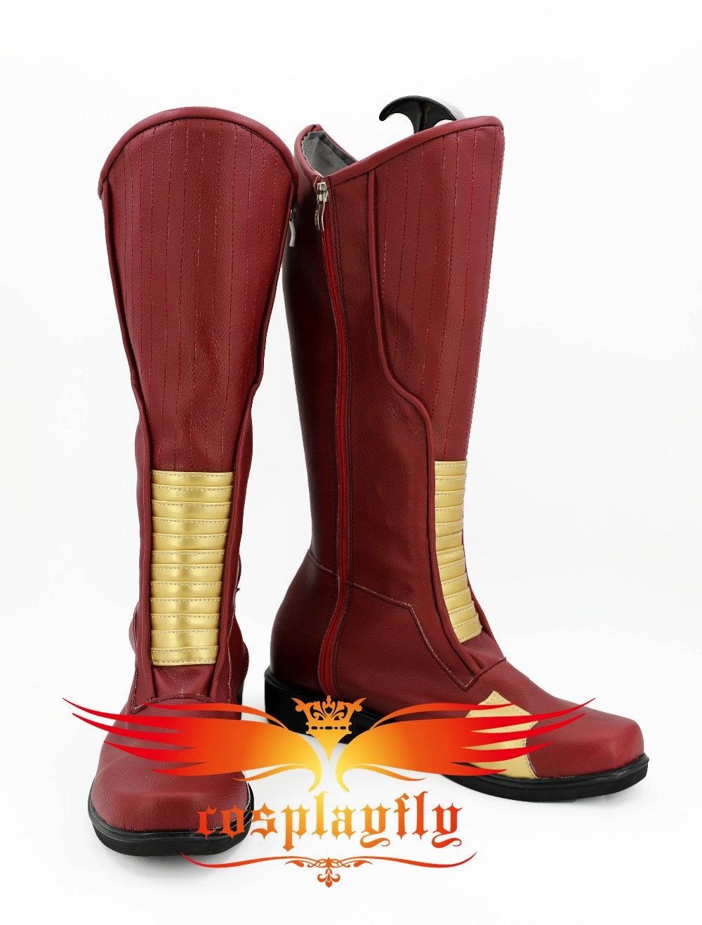 The Flash Red Runner Cosplay Shoes Boots For Adult Costume Adult Christmas For Cos 3274