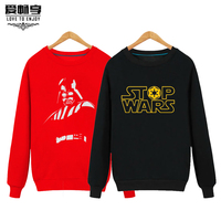 Star Wars Male Head Plus Sweater Cashmere Sweater Female Long Sleeved Loose Coat Printing Of Young