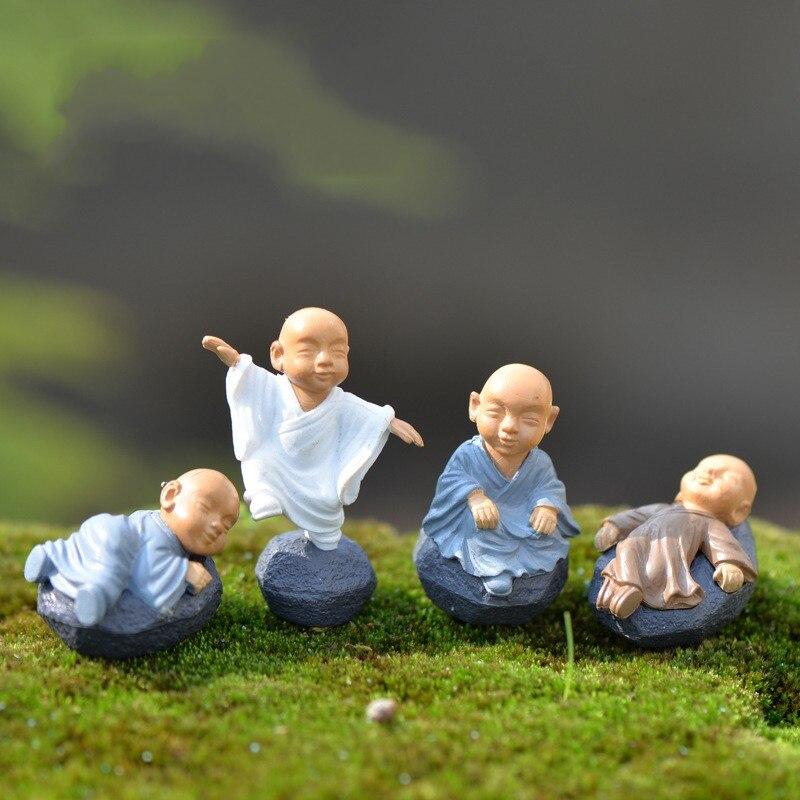 1Pcs Cartoon Monk DIY Resin Fairy Garden Craft Decoration Miniature Micro Gnome Terrarium Gift