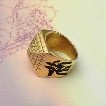 Pyramid Totem Eye of Horus Ring5