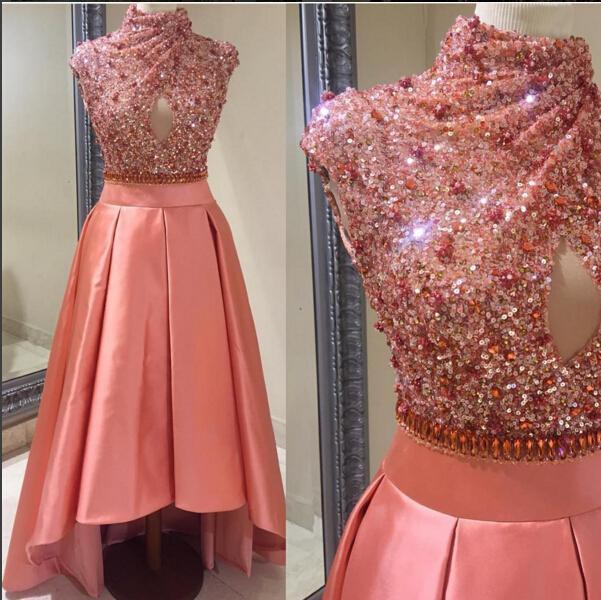 Elegante Árabe Dubai Vestidos de Noche Con Lentejuelas Cristales de ...