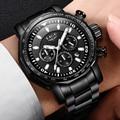 LIGE военные спортивные водонепроницаемые мужские часы бизнес Топ бренд часы мужские модные полностью Стальные кварцевые часы Relogio Masculino + ко...