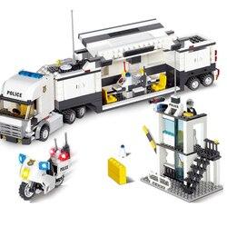 511 + Uds edificio clásico bloques, policía estación modelo de construcción de bloques bricolaje juguete educativos juguetes para niños de regalo