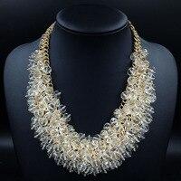 New Luxury Crystal Fashion Jewelry Women Geometry Statement Choker Necklace Women Accessories Necklace 2014 Jewelry For