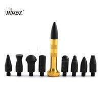 WHDZ автомобильный корпус Dent Repair Knock Down Pen PDR алюминиевые инструменты кран вниз ручка с 9 головками ручные инструменты для удаления вмятин Paintless...