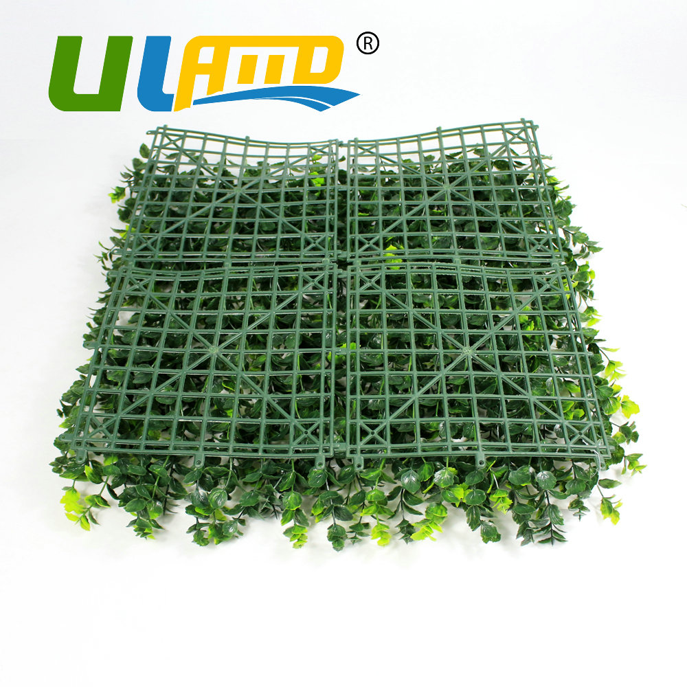 ULAND Artificial Boxwood Mat 50x50cm/pc Fake Buxus Hedges Panels ...