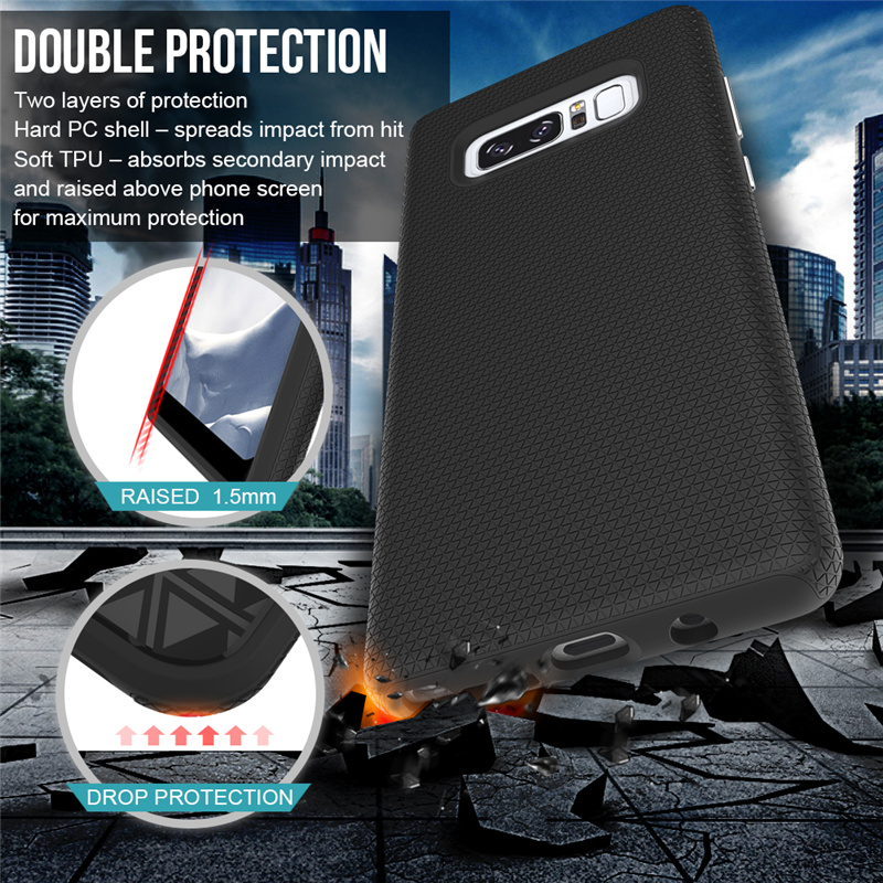 For Samsung Galaxy Note 8 Note8 Case Shockproof 2 in 1 hybrid armor dual protection phone case for Galaxy Note 8 tpu+pc cover